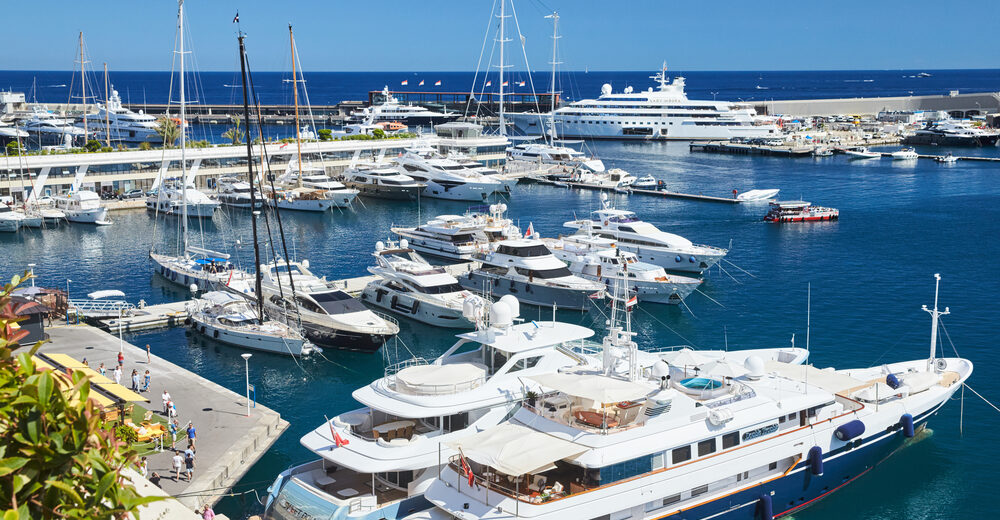 Superyachts Berthed in Port